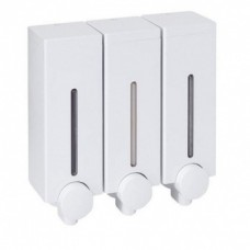 Hotel Type Bathroom, Shower Shampoo Holder, 3 Compartment White Wall Mounted