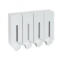 Hotel Type Bathroom, Shower Shampoo Holder, 4 Compartment White, Wall Mounted