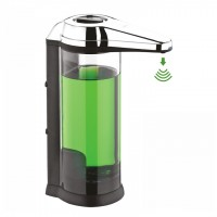 Svavo Sensor Countertop Liquid Soap Dispenser. Dose Adjusted, Battery Operated, 550ml Volume